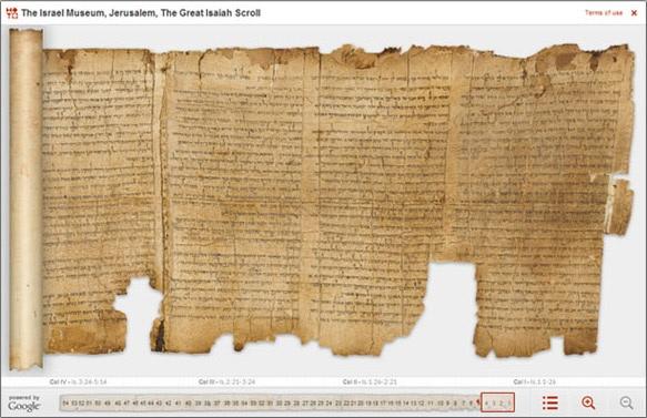 En del av Jesaja som återfanns bland Dödahavsrullarna