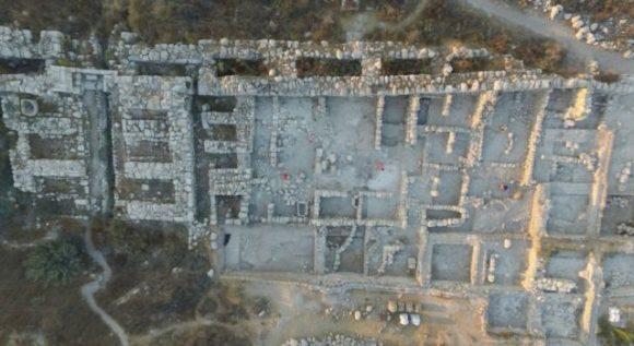 Den arkeologiska platsen Tel Gezer