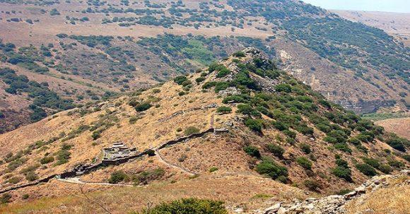 Judiska staden Gamla på Golanhöjderna