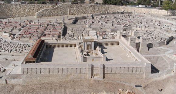 Det heliga landet med Jerusalem i centrum