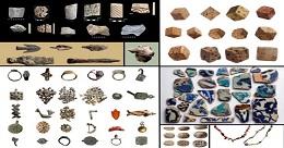 Några av de artefakter som efter mödosamt arbete har kunnat återställas